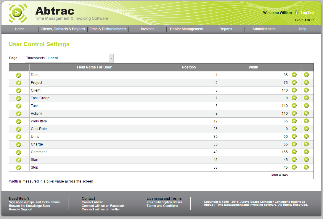Abtrac Online User Controls