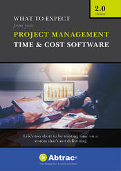 Abtrac Ebook - What to expect from your Project Management Time & Cost Software 2.0