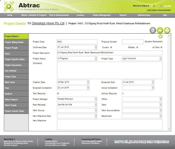 Job management software - main page